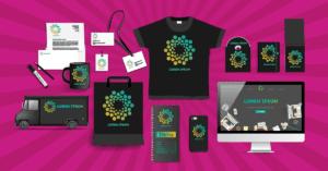 various samples branded items